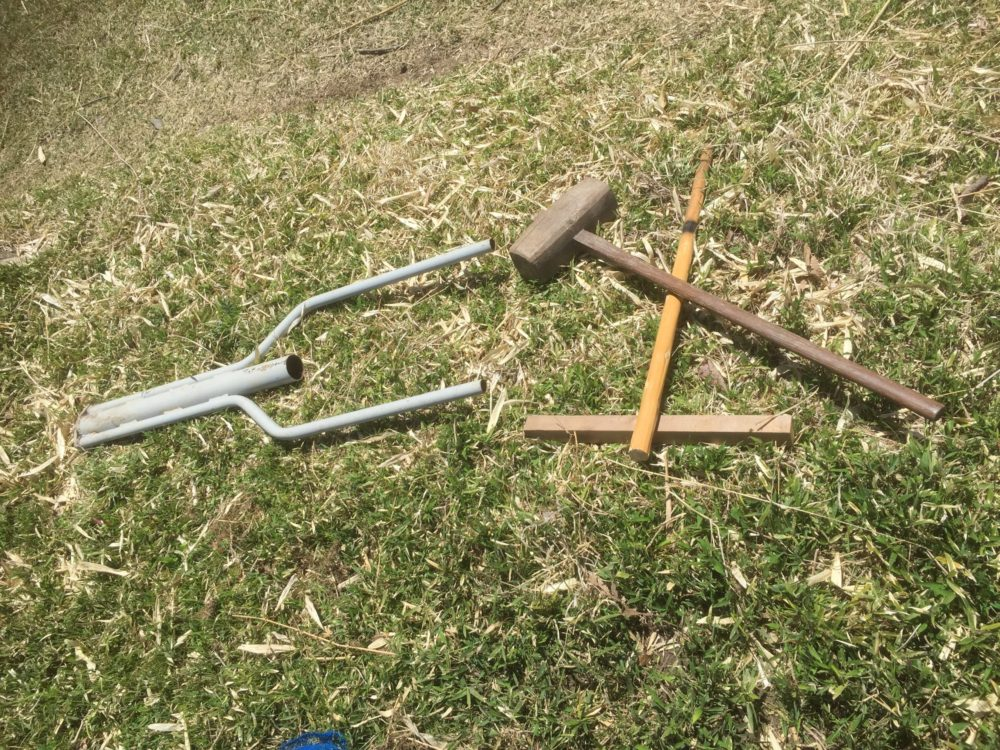 植樹する穴掘りよう道具