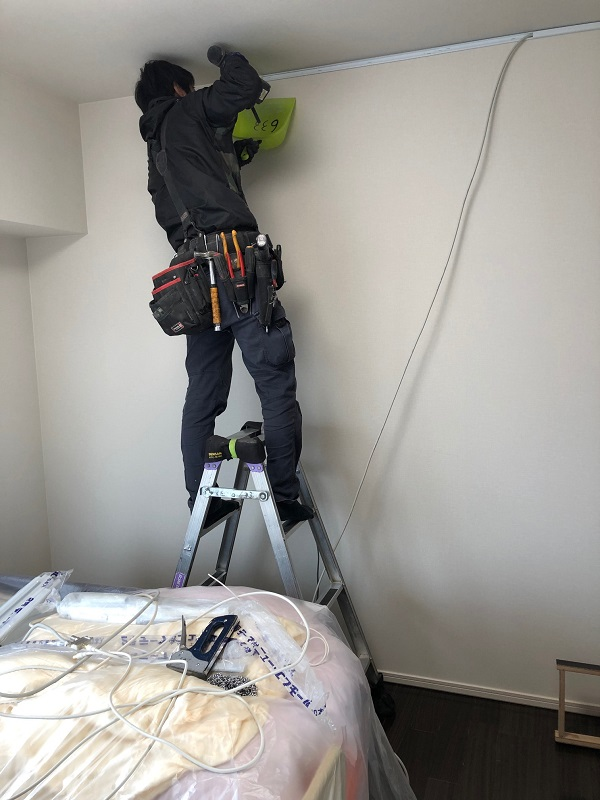 壁面収納 オーダー家具 電気工事