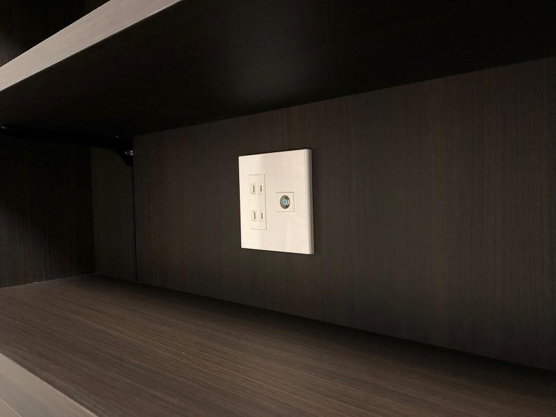 壁面収納 オーダー家具 家具コンセント