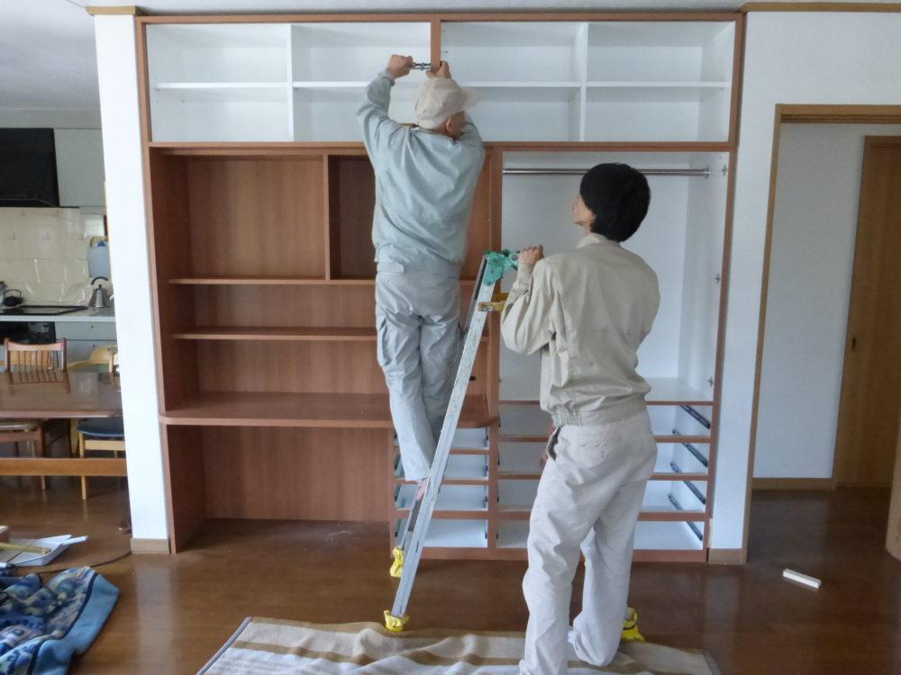 家具取付作業 現場