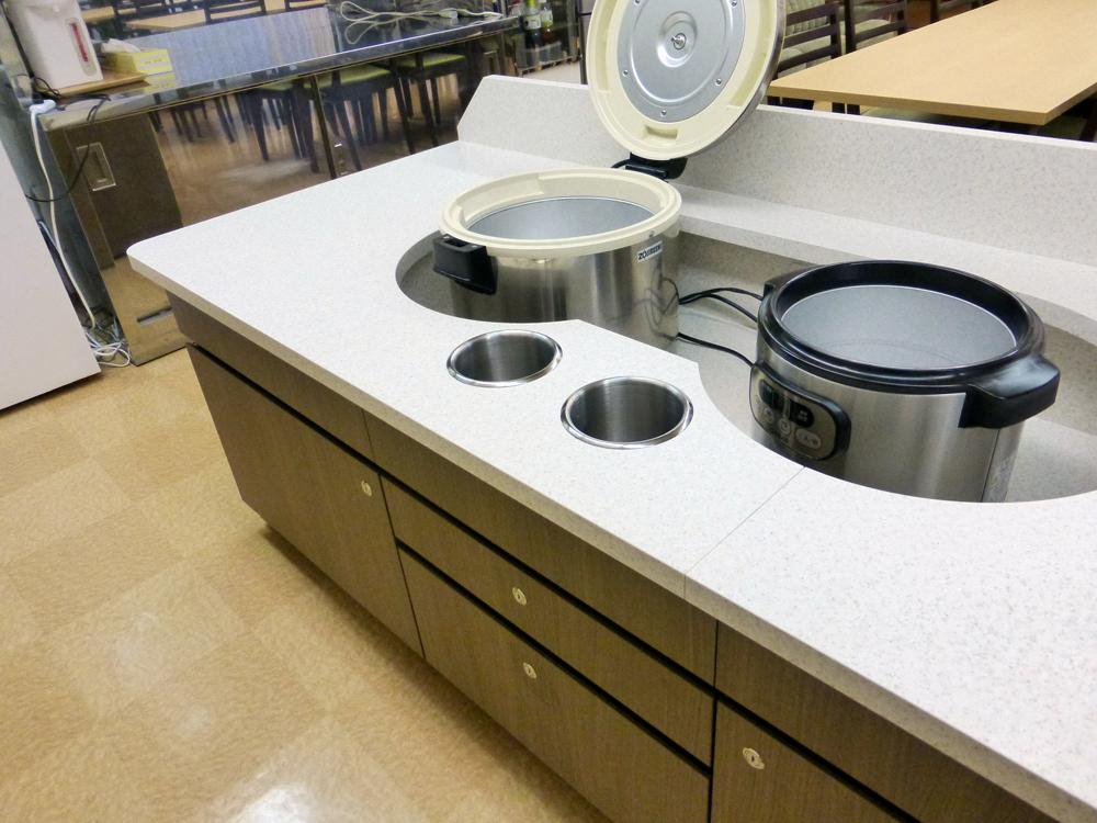 盛付台 炊飯器
